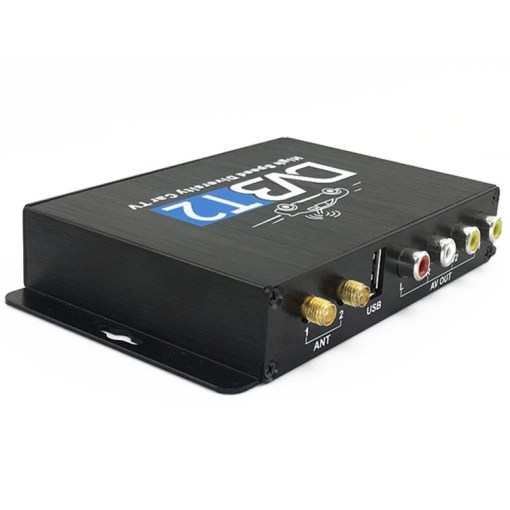 Car DVB-T2 DVB-T Multi PLP Digital TV Receiver 2 Antenna Diversity Dual Aerial H264 MPEG4 HD High Speed FTA STB 5