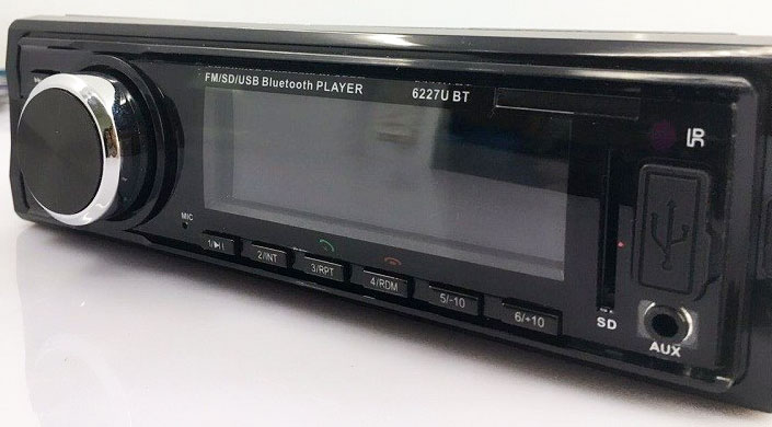 Fixed Panel Car MP3 USB SD FM Bluetooth MP3-6227 24