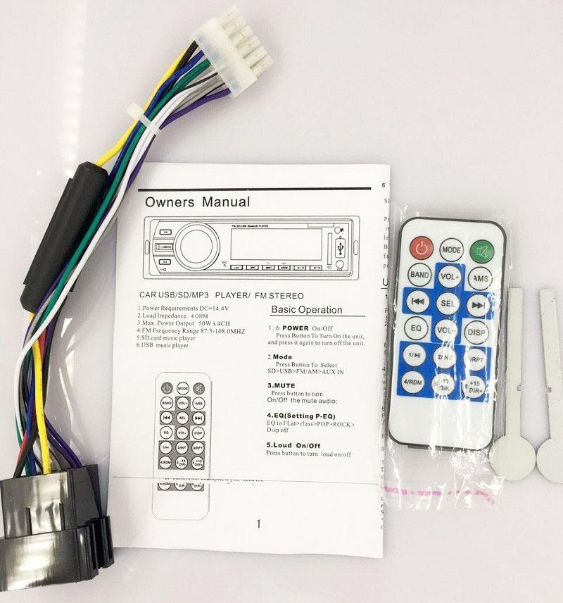 Fixed Panel Car MP3 USB SD FM Bluetooth MP3-6227 31