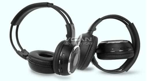 WL-2008 car wireless IR stereo TV headphone infrared headset 3