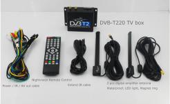 Car DVB-T2 Digital TV receiver two tuner dual antenna high speed 11