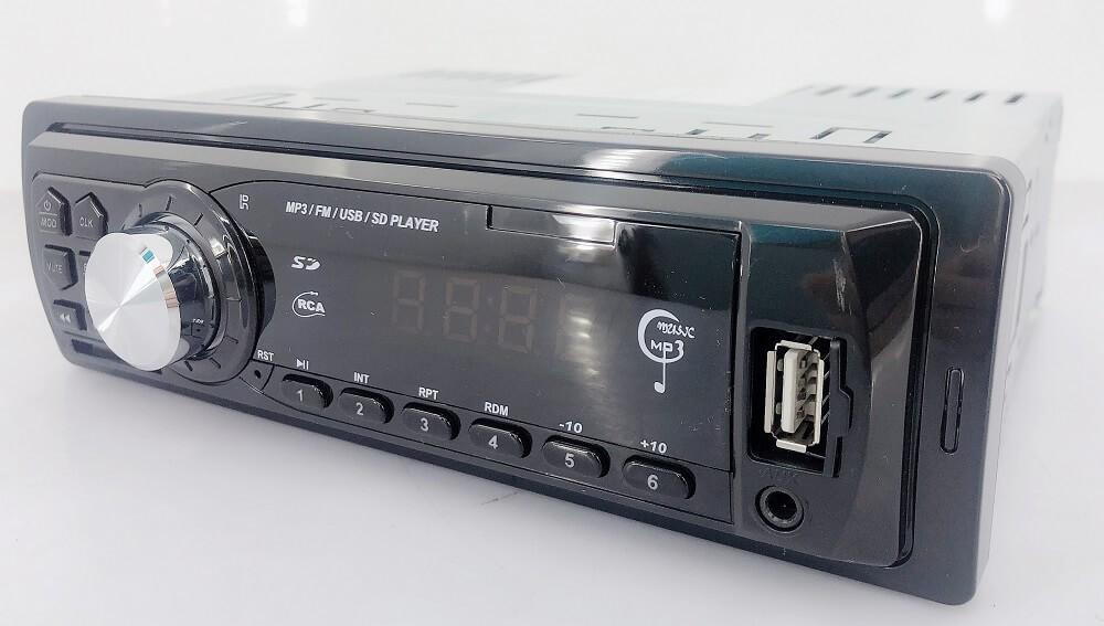 In dash One din Car USB SD MP3 player FM radio AUX audio input 6