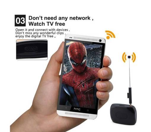 WiFi-TV1W digital TV wifi receiver dvb-t isdb-t for smartphone no need internet 4