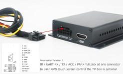 In-car Auto DVB-T DVB-T2 TV receiver box diversity 2 antenna MPEG4 H.264 STB dvb-t7200 13
