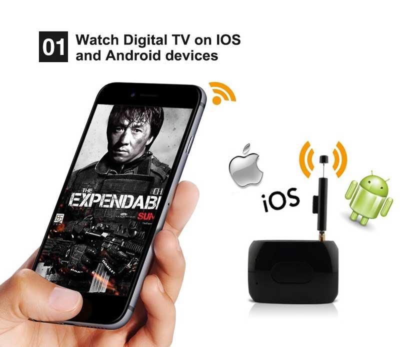 WiFi-TV1W digital TV wifi receiver dvb-t isdb-t for smartphone no need internet 16