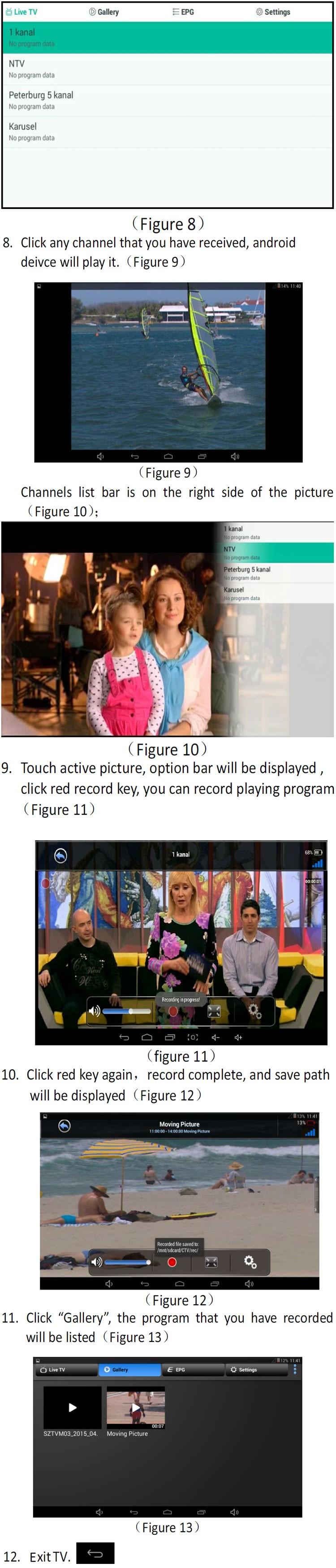 ATSC USB TV stick mobile phone use tuner USA Canada Mexico micro usb android phone pad ATSC-77 19