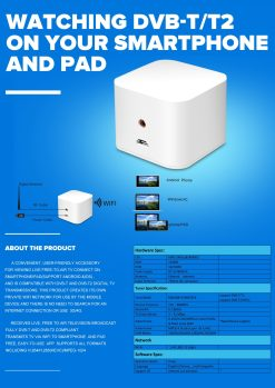 WIFI ISDB-T DVB-T2 Wireless Digital TV box for Android phone or Pad for Car outdoor Home 4