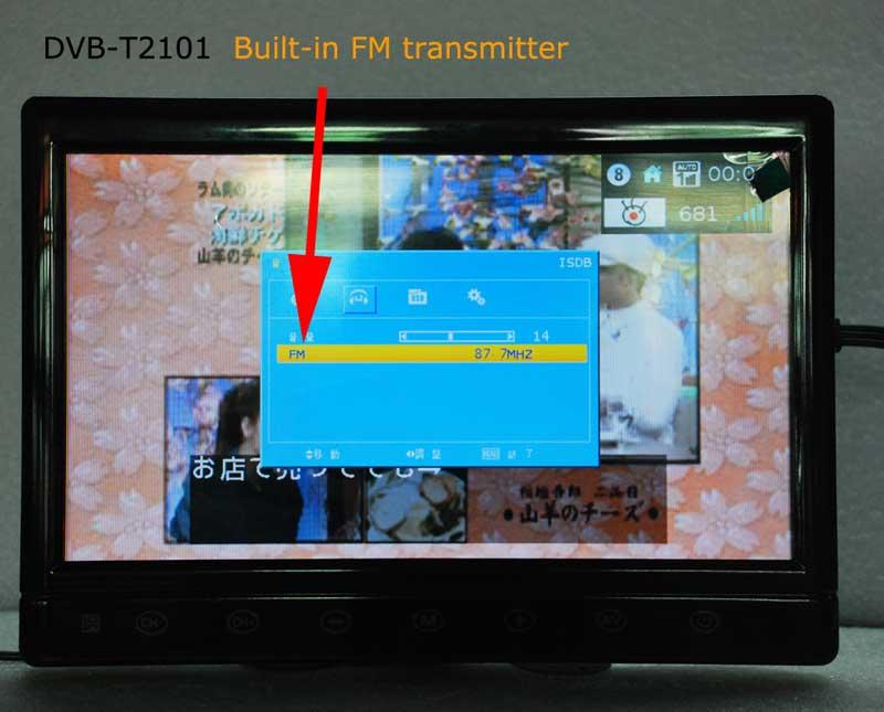 diversity dvb-t cofdm 10.1 inch digital tv monitor dvb-t2 receiver hdmi in out 6M 7M 8M bandwidth 170M to 930M frequency DVB-T2101HD 8