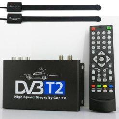 Car DVB-T2 H265 HEVC Codec Digital TV Receiver Auto Mobile Germany Standard 2 antenna H264 HD for all dvb country 14
