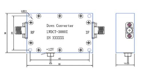 Digital Down Converter COFDM Transfer frequency 2.4G to 600Mhz low BDC 2