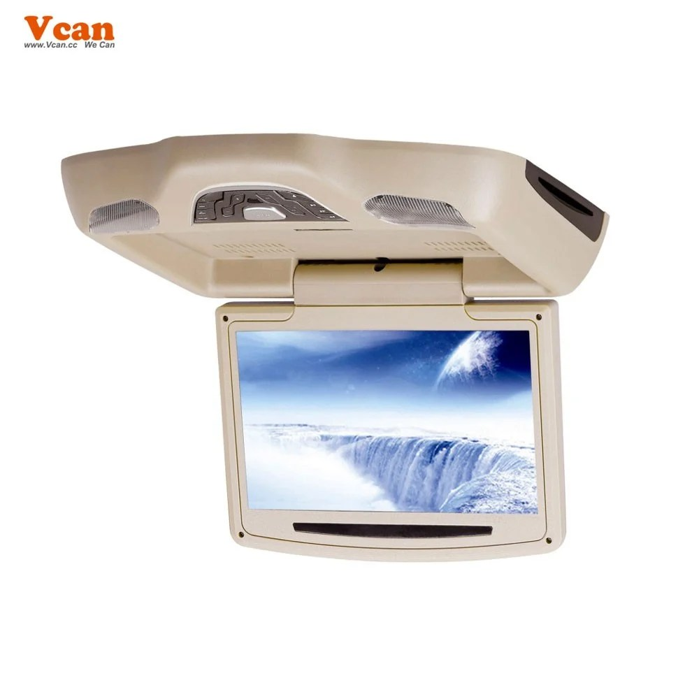 10.2 inch roof mount monitor usb sd dvd player ceiling flip down screen tm-1020 16
