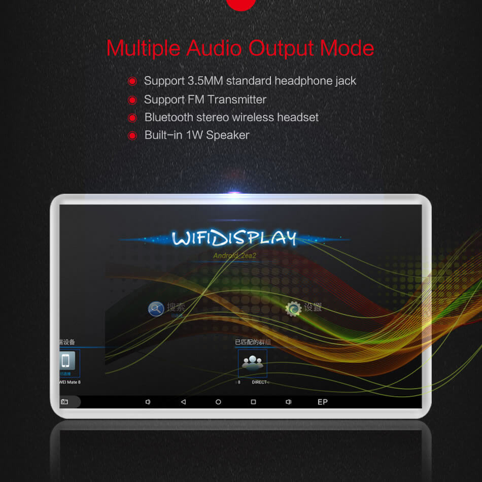 Android Headrest Player 11.6 inch IPS HD Monitor With WiFi Speaker Bluetooth FM transmitter Seat Touch Screen 12V 2PCS Pair 22