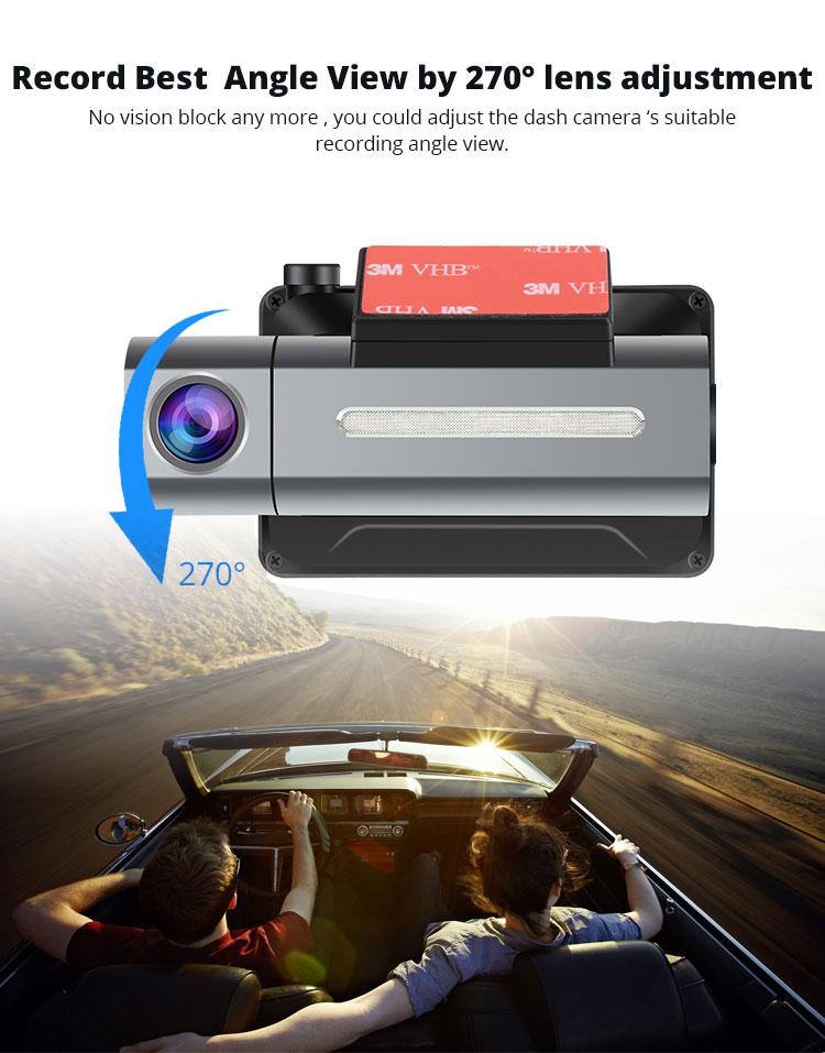 Android DVR dashcam car camera 3.0 inch full 1080 HD GPS logger dual camera video recorder Vcan1608 2