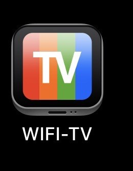 iOS app for touch screen Digital TV screen