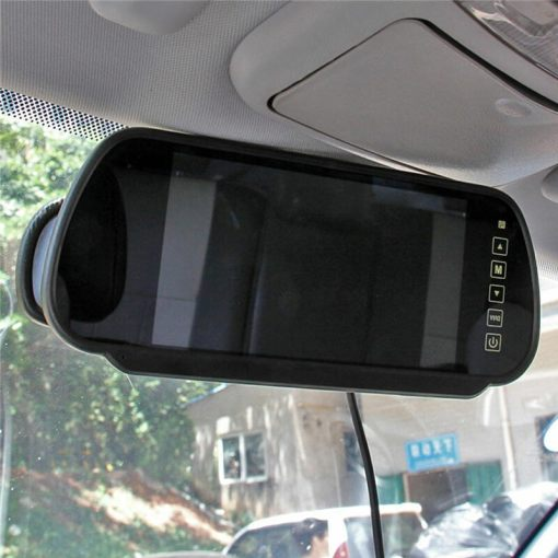 7 Inch Car Mirror Monitor Touch Button Auto Vehicle Parking Rear View Reverse HD Two inputs, install at original mirror RVM-700 3