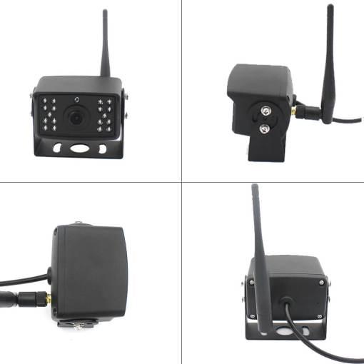 7 inch quad monitor wireless camera DVR for auto mobile truck Vehicle screen rear view monitor reverse backup recorder wifi camera 6