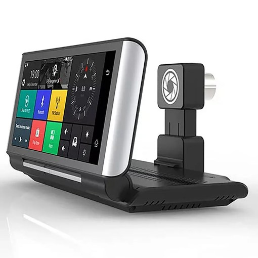 4G DVR Android 8 WIFI GPS Car rearview camera
