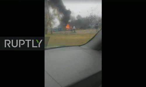 Máy bay rơi, 5 người thiệt mạng