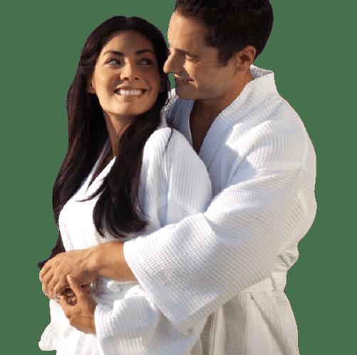 Robe De Chambre Blanche Gaufree Kimono Ivcom Inc