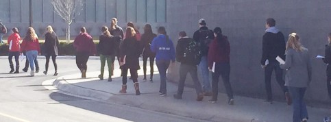 A group of high school students tour CMU where they may spend their next four years.