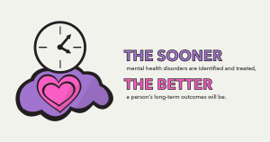 The sooner mental health disorders are identified and treated, the better a person's long-term outcomes will be.