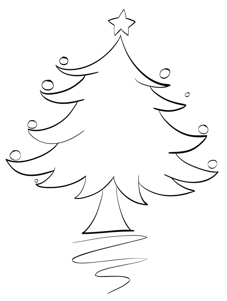illustration of an xmas tree outline