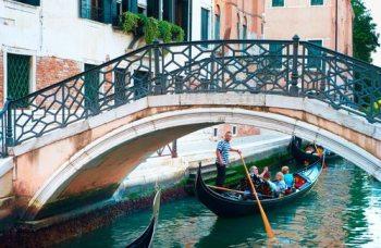 Gondola under the bridge