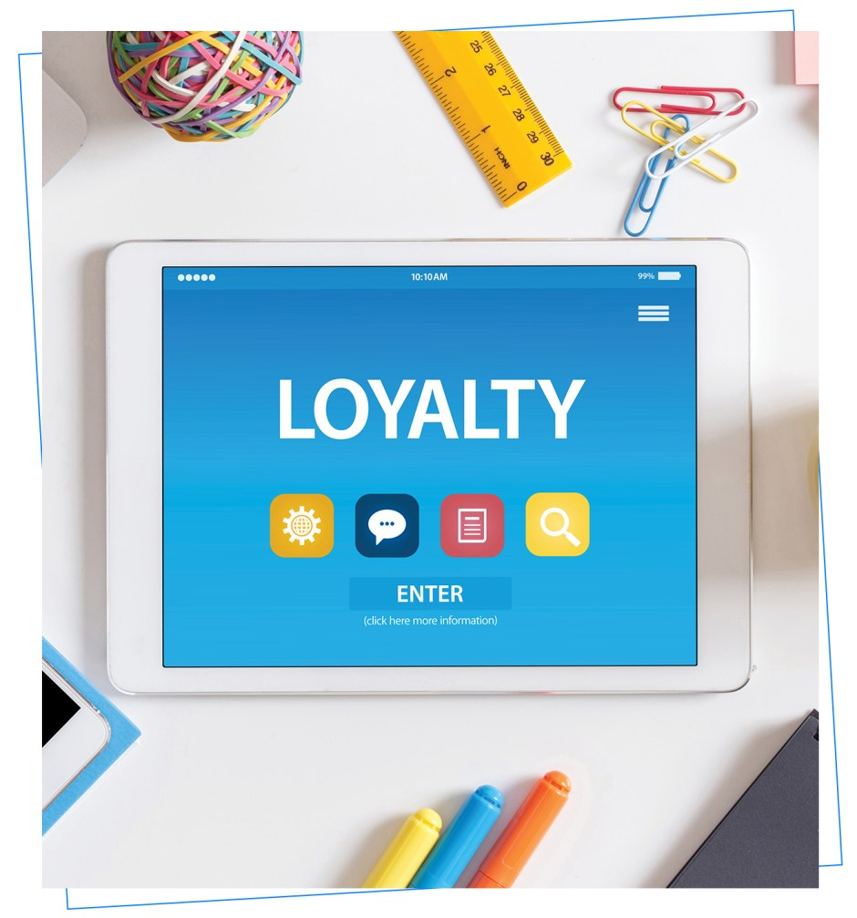 Customer Loyalty management on a mobile device.