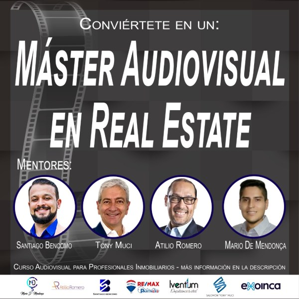 Banner del master audiovisual en real estate