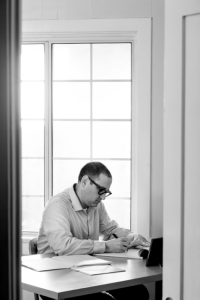 the beautiful, contemplative author photo