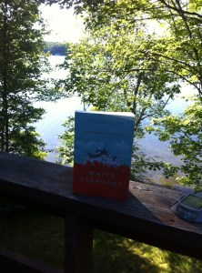I was lucky enough to read this book in the beautiful setting of Muskoka! Again, no cat accompaniment unfortunately