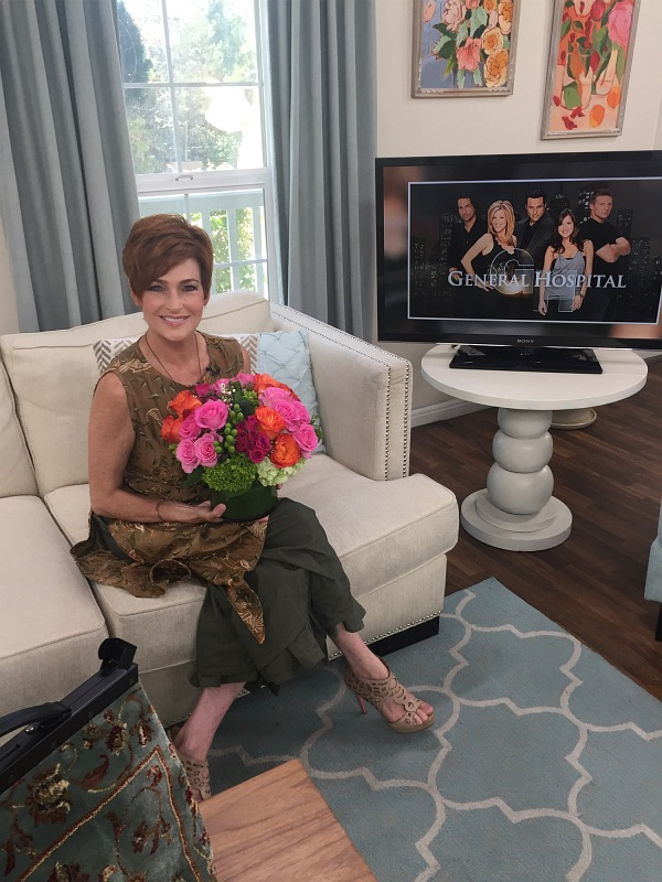 Carolyn Hennesy Wears Ivey Abitz in her appearance on the Hallmark Channel's program Home and Family July 7, 2017.
