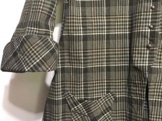 Elsie Duster Coat in Meadow Stretchy Plaid Cotton by Ivey Abitz
