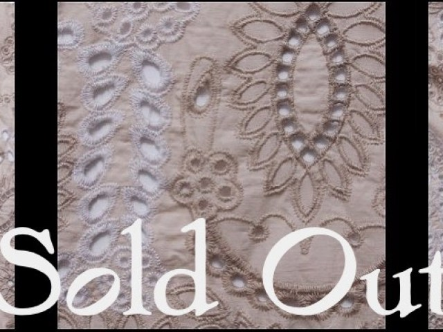 Tea Stained Embroidered Eyelet Voile - SOLD OUT
