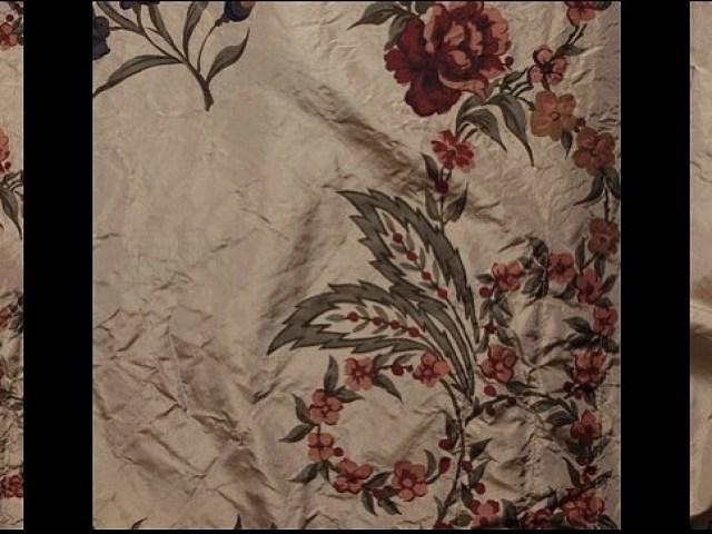 Vine Silk Taffeta