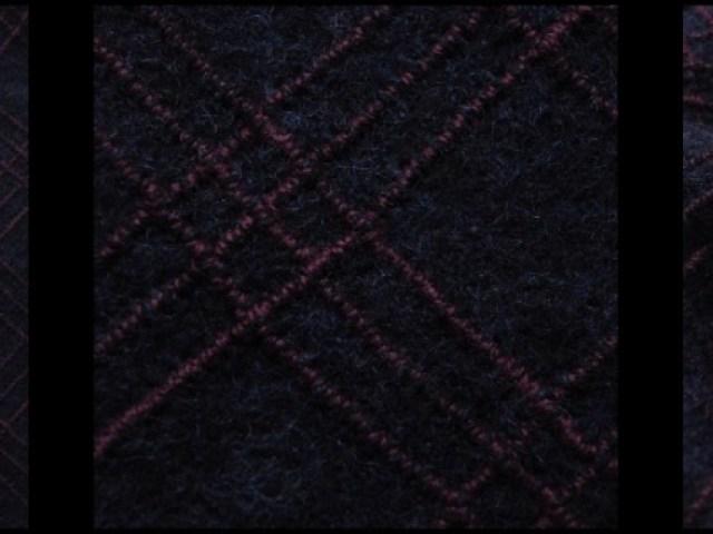 Windowpane Embroidered Boiled Wool