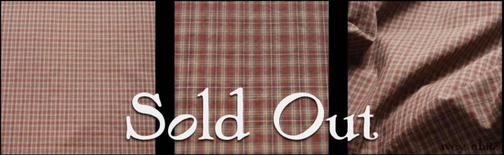 Brick Plaid Cotton - sold out Ivey Abitz bespoke fabric