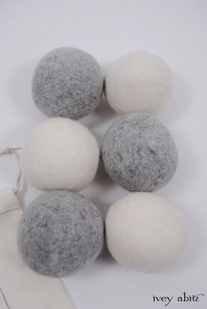 Wool Dryer Balls - Set of 6