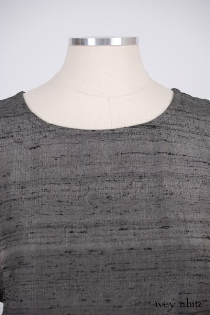 IA101 Canterbury Frock in Wolfie Grey Washed Silk