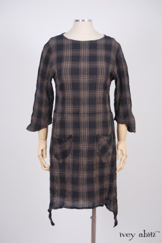 IA101 Dennison Dress in Lakeland Plaid Cotton Voile 1