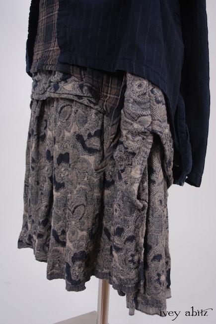 Elsie Duster Coat in Lakeland Striped Weave; Dennison Dress in Lakeland Plaid Cotton Voile; Limited Edition Blanchefleur Frock in Lakeland Floral Weave