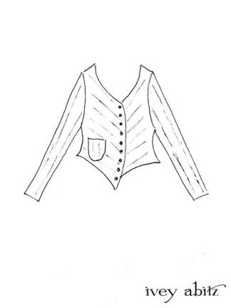 Gilbert Cardigan Drawing by Ivey Abitz