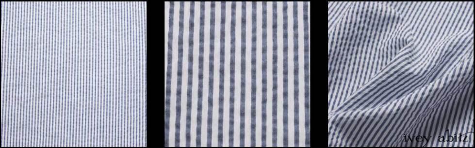 Onward Blue Puckered Striped Weave