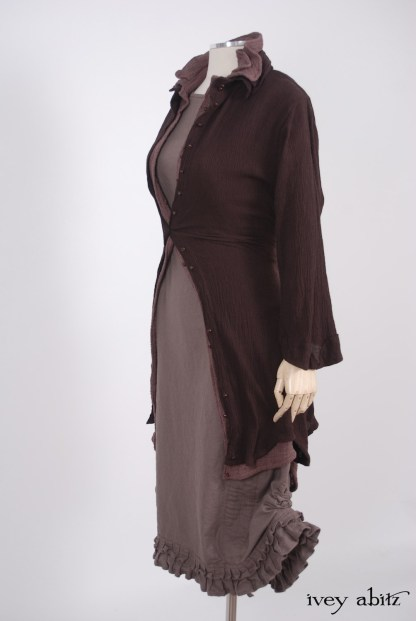 Canterbury Frock in Hummingbird Washed Linen - Size Small/Medium