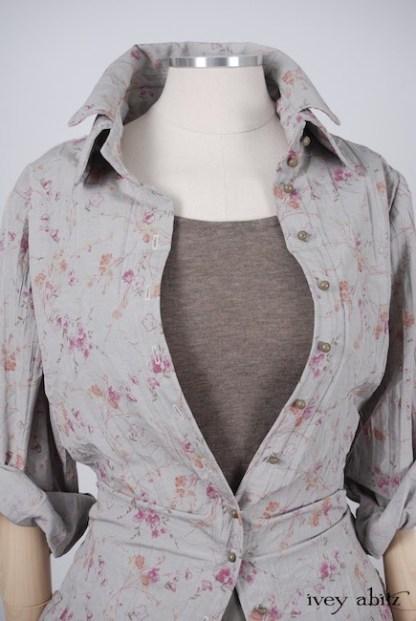 Inglenook Shirt Jacket in Shoreline Sprig Crushed Weave - Size Medium