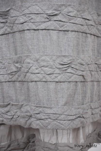 Tollie Frock in Sparrow Grey Wispy Silk Voile - Size Medium