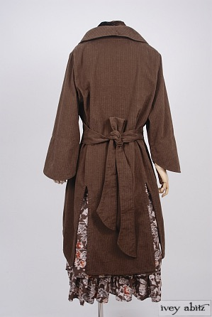 Elsie Duster Coat in Fawnwood Softest Cotton Twill - Size Medium