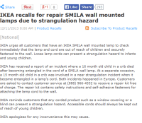 IKEA issues urgent product recall for child lamp