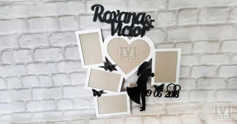 rama foto pentru nunta personalizata