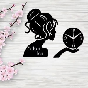 Ceas pentru Salon de Infrumusetare din Lemn